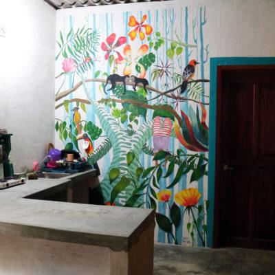 Cocina y mural